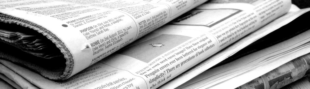 Newspapers B&W (5) by Jon S