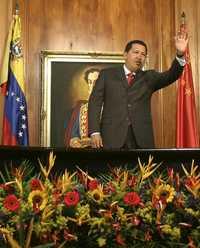 El presidente Hugo Chávez, en imagen proporcionada por la oficina de prensa del Palacio Miraflores