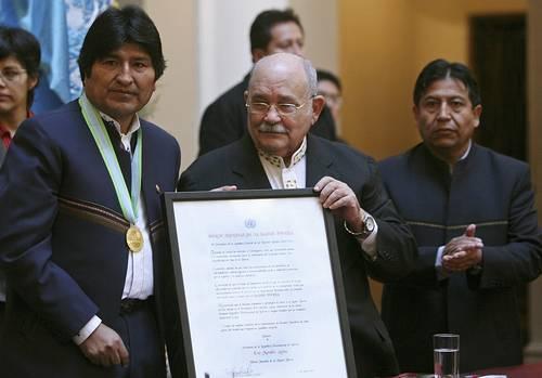 Evo Morales Héroe de la Madre Tierra