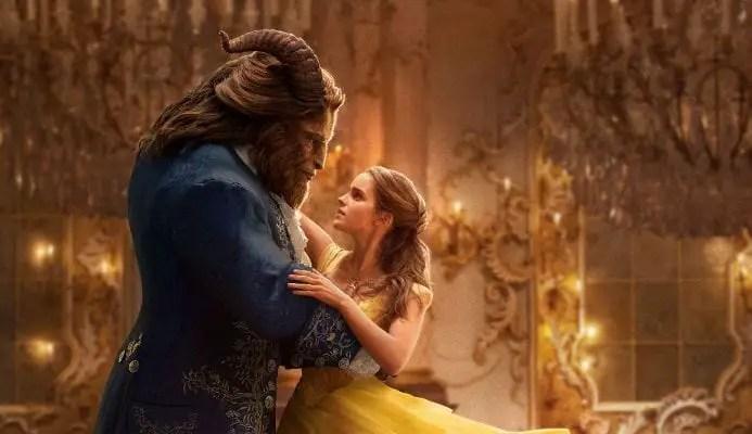 Imagem promocional do filme A Bela e a Fera, com Dan Stevens e Emma Watson
