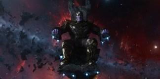Foto do vilão Thanos, parte do Universo Cinematográfico da Marvel e vilão de Vingadores