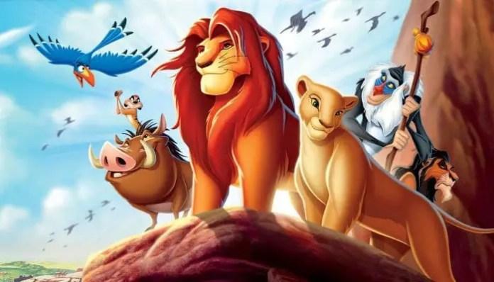 Imagem da animação o Rei Leão