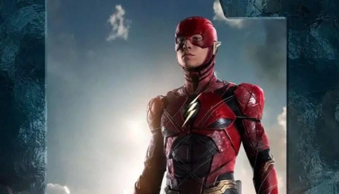 Imagem do Flash em pôster da Liga da Justiç