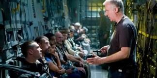 James Cameron no set de Avatar