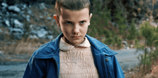 Millie Bobby Brown como Eleven em Stranger Things