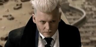 Imagem de Johnny Depp como Grindelwald