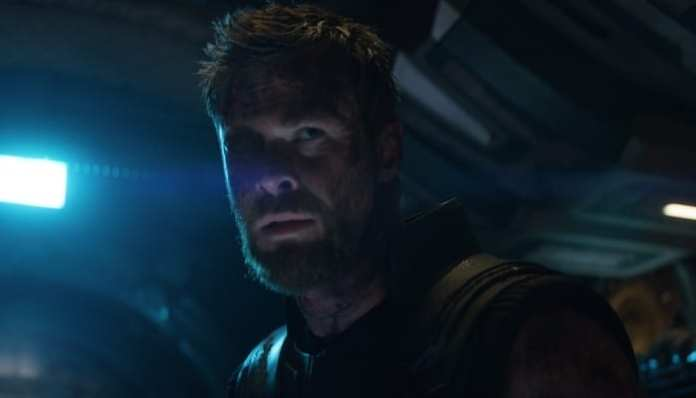 Imagem do herói Thor em Vingadores: Guerra Infinita