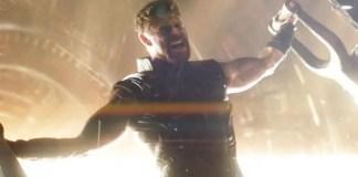 imagem promocional de Thor em Vingadores: Guerra Infinita