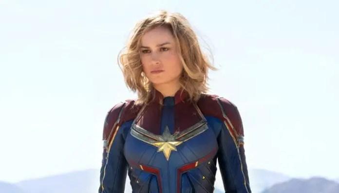 Imagem de Brie Larson como Capitã Marvel