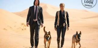 Keanu Reeves e Halle Berry em John Wick 3