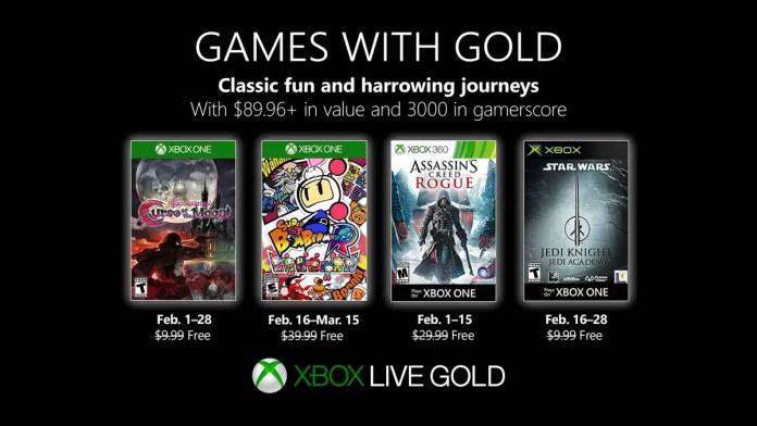 Xbox Live Gold: revelados os jogos gratuitos de fevereiro
