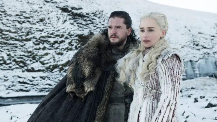 Jon Snow e Daenerys Game of Thrones 8ª temporada