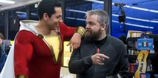 David F.Sandberg e Zachary Levi nos bastidores de shazam!