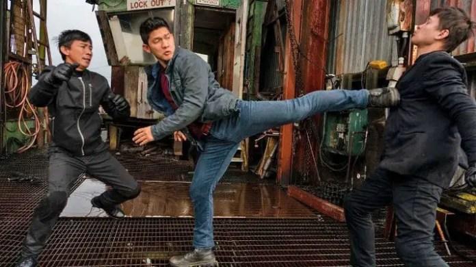 Kai em ação na série Wu Assassins