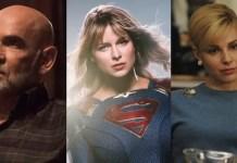 Mitch Pileggi e Cara Buono na série Supergirl
