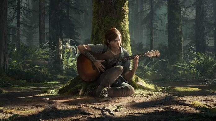 Ellie na floresta em The Last of Us Parte II