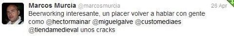 Felicitaciones por las JornadasMarketingOnline Marcos Murcia