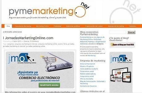Artículo en el blog de Pymemarketing sobre el congreso marketing en internet y comercio electronico organizado