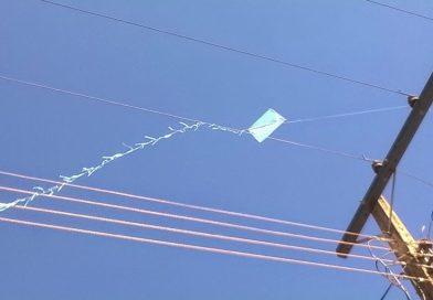 Ocorrências com pipa na rede elétrica crescem durante isolamento social