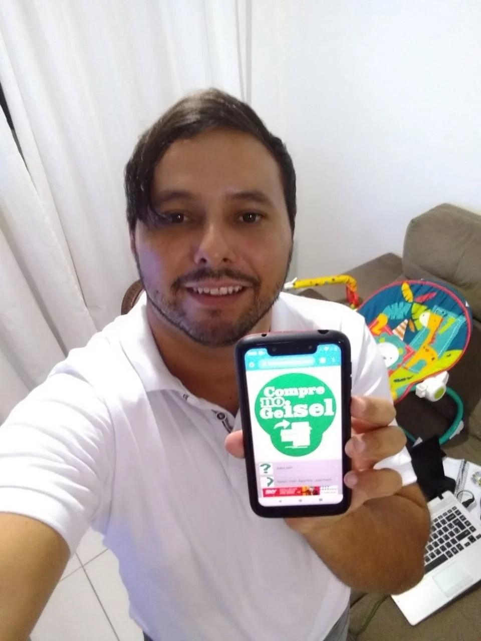 Empreendedor pessoense desenvolve aplicativo para fortalecimento do comércio local