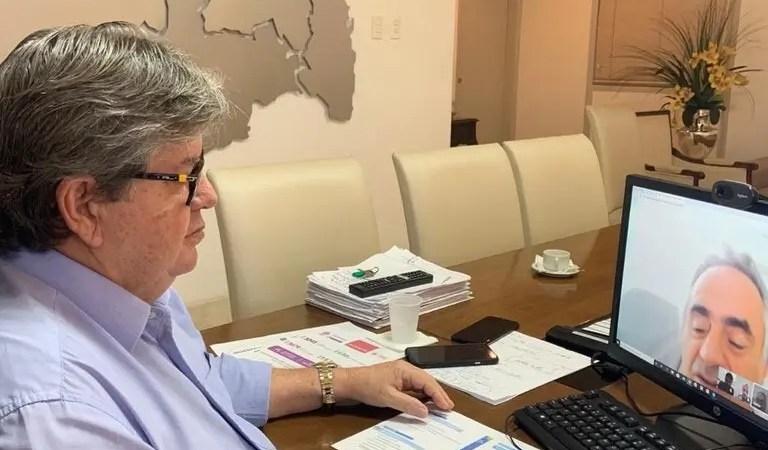 João Azevêdo se reúne com prefeitos da Região Metropolitana de João Pessoa para apresentar plano de ampliação das medidas de isolamento social