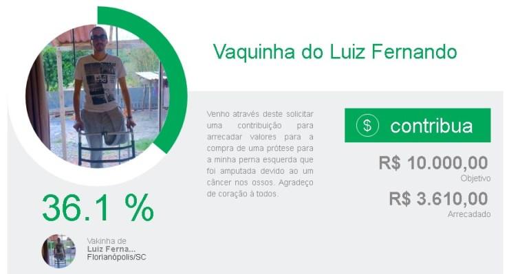Vaquinha quer ajudar jovem que teve perna amputada após Câncer