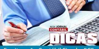 DICAS ECF JORNAL CONTÁBIL