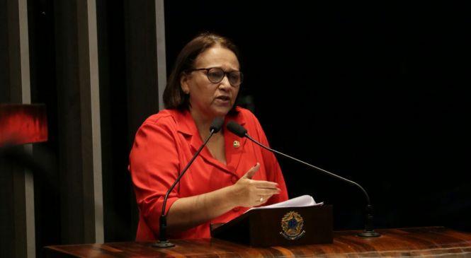 Fátima cobra liberação de emendas para Segurança Pública do RN