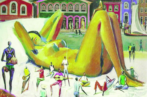 """""""Mulata Velha"""", de Carybé, uma das muitas obras que demonstram a característica que a mulata ganhou ao longo da história: a sensualidade inadvertida"""