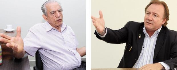 Iris Rezende e Júnior Friboi: os dois pré-candidatos peemedebistas querem a cabeça de chapa, onde só cabe um / Fotos: Fernando Leite- Jornal Opção