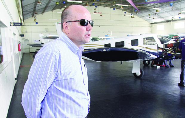 Márcio Couto, gerente comercial da Voar-Globo, maior empresa de manutenção de aeronaves do Centro-Oeste | Foto: Fernando Leite/Jornal Opção