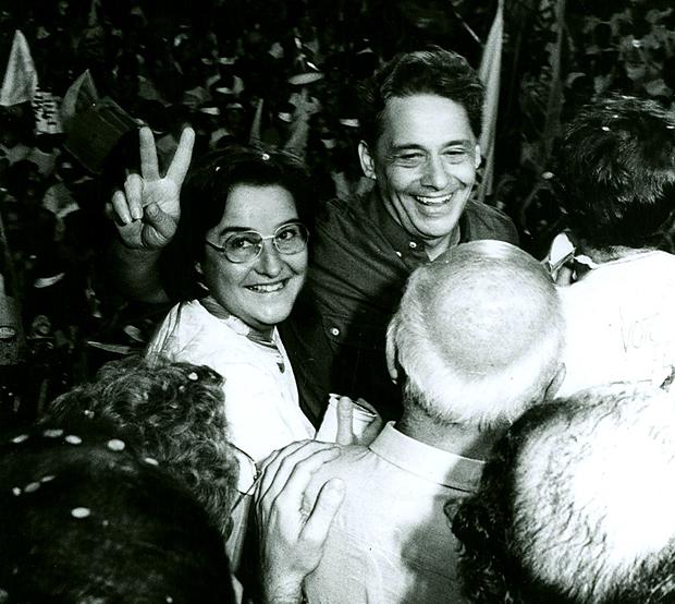 Fernando Henrique Cardoso, em 1985, em comício das eleições para prefeito de São Paulo. FHC foi derrotado por Jânio Quadros | Foto: Instituto Fernando Henrique Cardoso