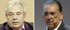 Luciano do Valle e Galvão Bueno: na televisão, os dois substituíram as estrelas do rádio esportivo, com certa competência mas sem muito brilho. Fotos: Divulgação/ESPN e ESPORTV