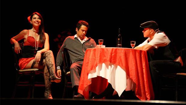Atores Mari Peixoto, Marcio Henry e Fernando Nasser   Foto: Divulgação