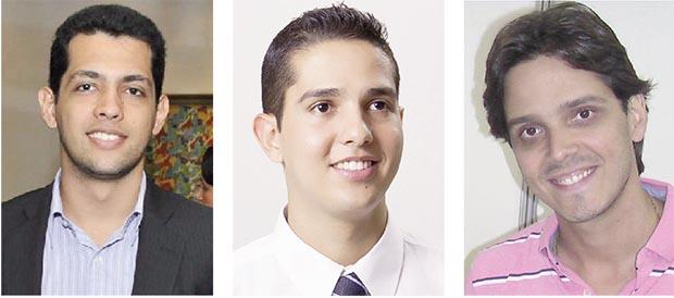 Thiago Albernaz: vereador quer ser deputado Zé Antônio: herdeiro político de Zé Gomes Marquinho do Privé: juventude de Caldas Novas