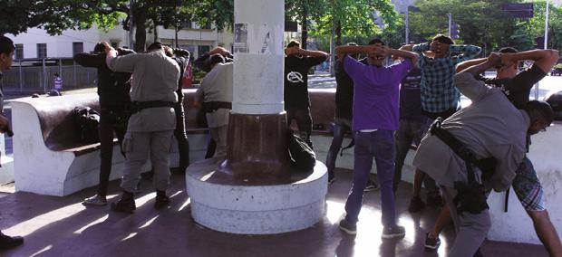 Presença ostensiva de policiais militares nas ruas inibe a criminalidade