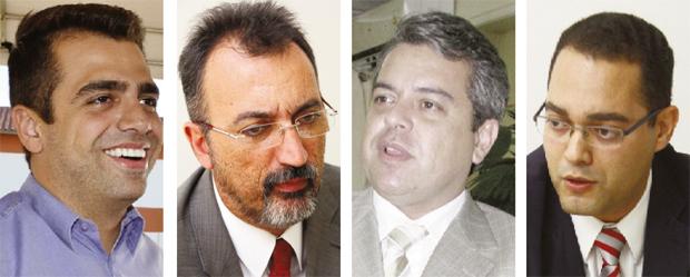 Gustavo Sebba, Humberto Aidar, Ernesto Roller e Virmondes Cruvinel Filho: quatro nomes fortes para a disputa de outubro