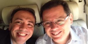 Eduardo Machado e Marconi  Perillo: em Goiatuba