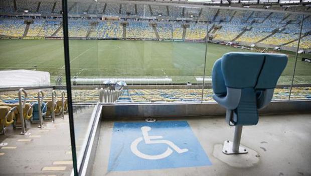 Estádio da final da Copa, o Maracanã tem 627 lugares para pessoas com mobilidade reduzida, 111 para cadeirantes e 101 para obesos   Foto: Divulgação/Maracanã