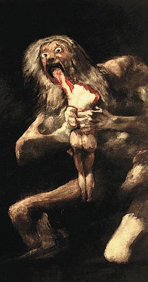 Saturno devorando um filho, de Francisco de Goya