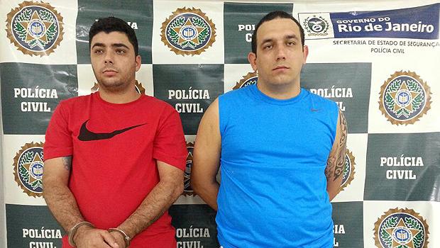 De Itumbiara: conhecidos como Doidão (à direita) e Cidinho, os irmão foram capturados em uma residência na Região Metropolitana do Rio de Janeiro. Fotos: Divulgação/Polinter Rio de Janeiro