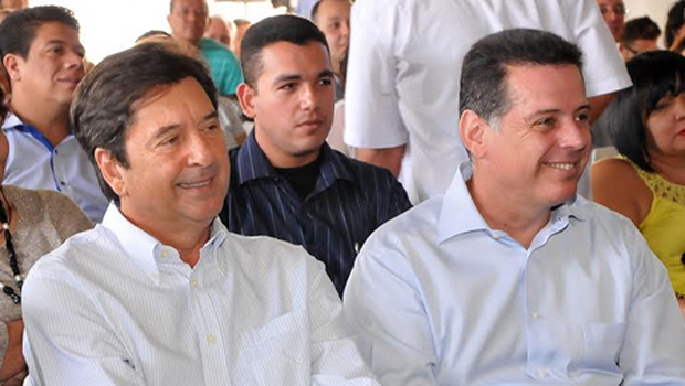 Prefeito Maaquito Vilela (à esquerda) e Marconi durante abertura de evento do governo estadual. Foto: Reprodução/Marconi Equipe