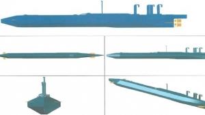 Projeto de submarino semelhante ao que os traficantes pretendiam construir