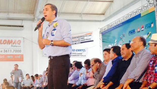 Lançamento de pré-candidatura de José Eliton foi prestigiado por diversas lideranças nacionais. Fotos: Reprodução/Twitter