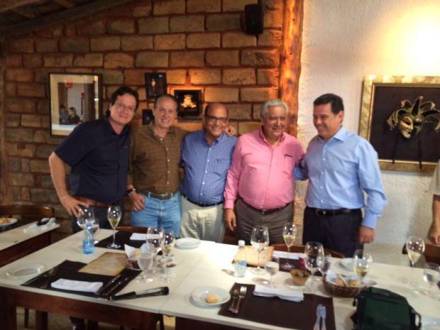 Celsinho Borges, Francisco Teixeira, Roberto Balestra, Vilmar Rocha e Marconi Perillo