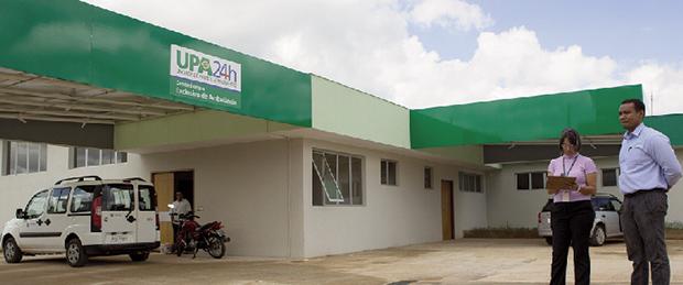UPA 24 horas: o prédio já está pronto e com os equipamentos instalados nas salas