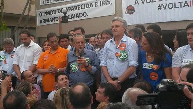 Iris concretiza chapa com Ronaldo Caiado e Armando Vergílio, ex-aliados de Marconi