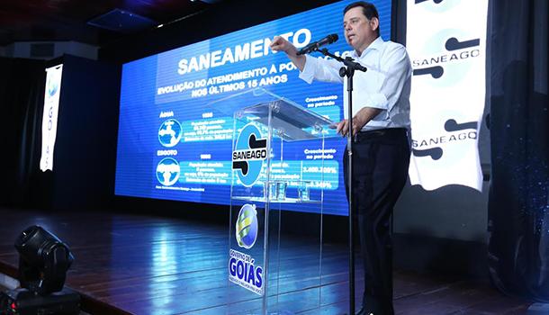 Em evento da Saneago, Marconi inaugura aeroporto e novo terminal de passageiros em Posse