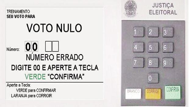 Voto nulo é considerado ato de protesto, de desinteresse pelo processo eleitoral e de desprestígio pela classe política