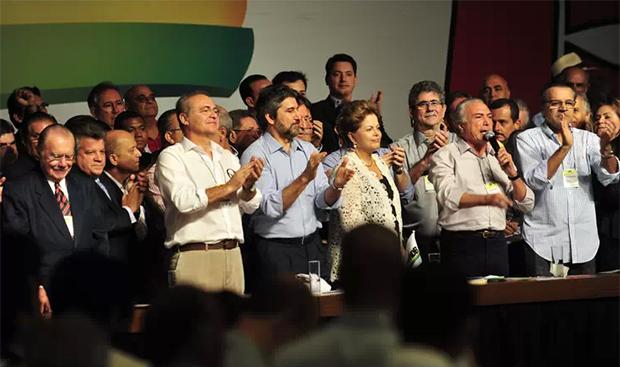 Com 59% dos votos, PMDB firma aliança com Dilma Rousseff